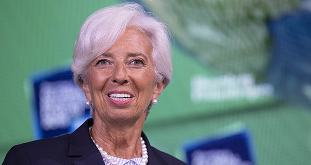 In this Sept. 25 photo, Christine Lagarde, president-elect of the European Central Bank, speaks at the Bloomberg Global Business Forum in New York. (AP file photo)