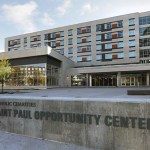 Exterior of the recently opened St Paul Opportunity Center. (Photo: Bill Klotz/Special to Finance & Commerce)