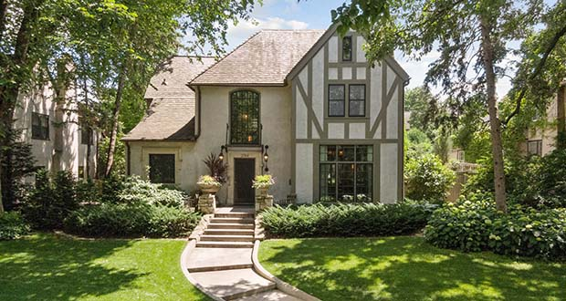 The exterior of this Tudor home at 2748 Dean Parkway in Minneapolis looks like an elegant, understated update of the 1928 original. (Submitted photo: Spacecrafting)