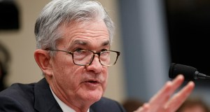 Federal Reserve Board Chair Jerome Powell testifies Thursday to the House Budget Committee on Capitol Hill in Washington. (AP Photo: Jacquelyn Martin)