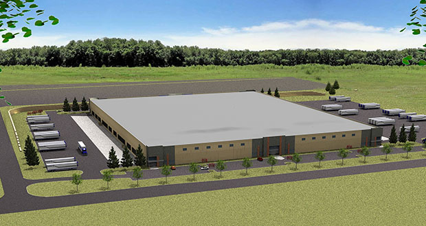 Canterbury Distribution Center under construction at 3200 Fourth Ave. E. in Shakopee will bring about 300,000 square feet of new distribution space to the southwest Twin Cities submarket. (Submitted illustration: CoStar)