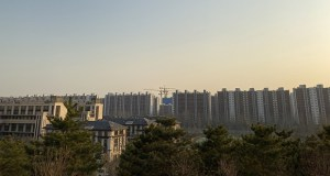 This Friday photo shows rows of affordable apartments in Beijing. (Bloomberg photo: Emma Dong)