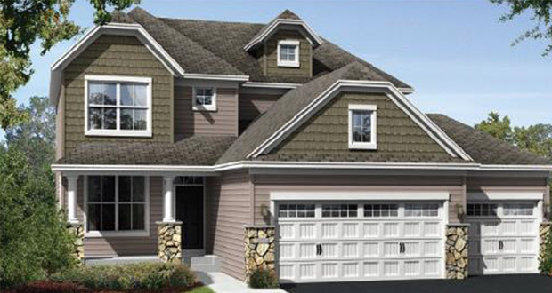 """Known as the """"Wessel Residential Development,"""" Lennar Homes' multiphase project in Corcoran would create 551 housing units, including 282 single-family houses such as the one pictured here. (Submitted rendering)"""