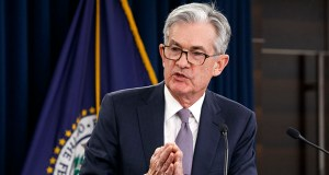 Federal Reserve Chair Jerome Powell gestures while speaking Wednesday during a news conference after the Federal Open Market Committee meeting in Washington. (AP Photo: Jacquelyn Martin)