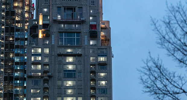 The penthouse in a building designed by Robert AM Stern architects at 220 Central Park South in New York sold for $240 million this year, making it the most expensive U.S. home sold this year. (Bloomberg photo: Jeenah Moon)
