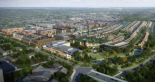 Ryan Cos. and its partner developers intend to build 3,800 housing units and hundreds of thousands of square feet of retail and employment space on the site once occupied by Ford Motor Co.'s St. Paul manufacturing plant. (Submitted image: Ryan Cos. US Inc.)