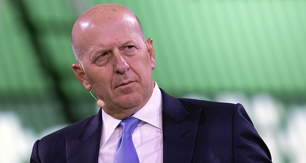 In this Sept. 25, 2019, file photo David Solomon, Chairman and CEO of Goldman Sachs, speaks at the Bloomberg Global Business Forum in New York. (AP Photo/Mark Lennihan, File)