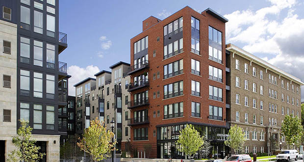 The 212-unit Eitel Apartments at 1367 Willow St. sold in the largest multifamily transaction so far this year in the Twin Cities for almost $55 million. (Submitted photo: JLL)