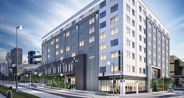 The sale of the new Element by Westin Hotel at Target Field Station is was the priciest of 2019 at about $34 million. (Submitted illustration: Lion Hotel Group)