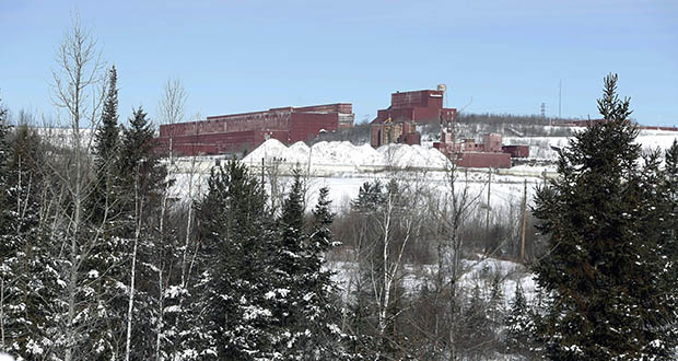 Environmental organizations have asked the Minnesota Court of Appeals to order the Pollution Control Agency to re-evaluate a permit for PolyMet Mining's proposed mine near the abandoned LTV Steel taconite plant in Hoyt Lakes, shown in this 2016 photo. In a related case, the court on Monday ruled that the Department of Natural Resources erred in issuing a permit to mine and a dam safety permit. (AP file photo: Jim Mone)