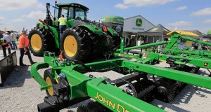 In this Sept. 10, 2019, file photo a John Deere tractor is on display at the Husker Harvest Days farm show in Grand Island, Neb. (AP Photo/Nati Harnik, File)
