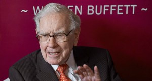 In this May 5, 2019, photo Warren Buffett, Chairman and CEO of Berkshire Hathaway, speaks during a game of bridge following the annual Berkshire Hathaway shareholders meeting in Omaha, Nebraska. Buffett released his annual letter to Berkshire Hathaway shareholders on Saturday. (AP file photo)