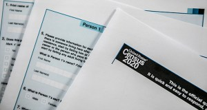 Sample copies of 2020 Census forms. (Photo: Dave Zajac/Record-Journal via AP)
