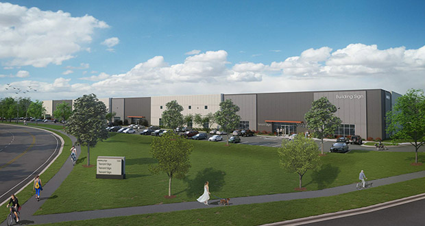 Minnetonka-based Opus Group is planning to build a 130,130-square-foot industrial building in Eden Prairie's Golden Triangle industrial area. (Submitted illustration: Opus Group)