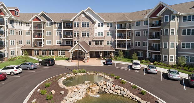 Minneapolis-based United Properties, the developer behind Applewood Pointe in Eagan and other Applewood Pointe properties, plans to build a similar 110-unit senior living cooperative at the corner of West Circle Drive and Berkshire Road in Rochester. (Submitted photo: United Properties)