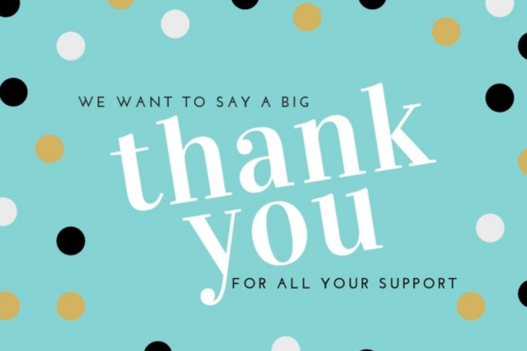A Huge Thank You For All Your Support Finance Matters