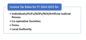 income tax rates for fy 2014-15