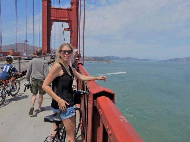 Achteraf terugkijken golden gate bridge SF