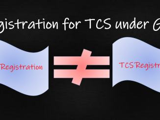 Registration for TCS under GST