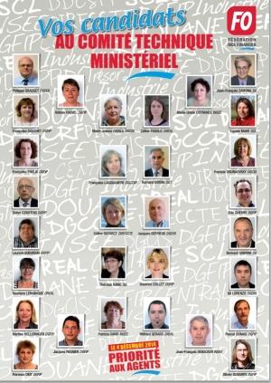 Vos candidats FO à l'élection au CTM
