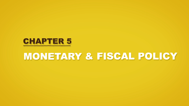financial literacy | monetary & fiscal policy