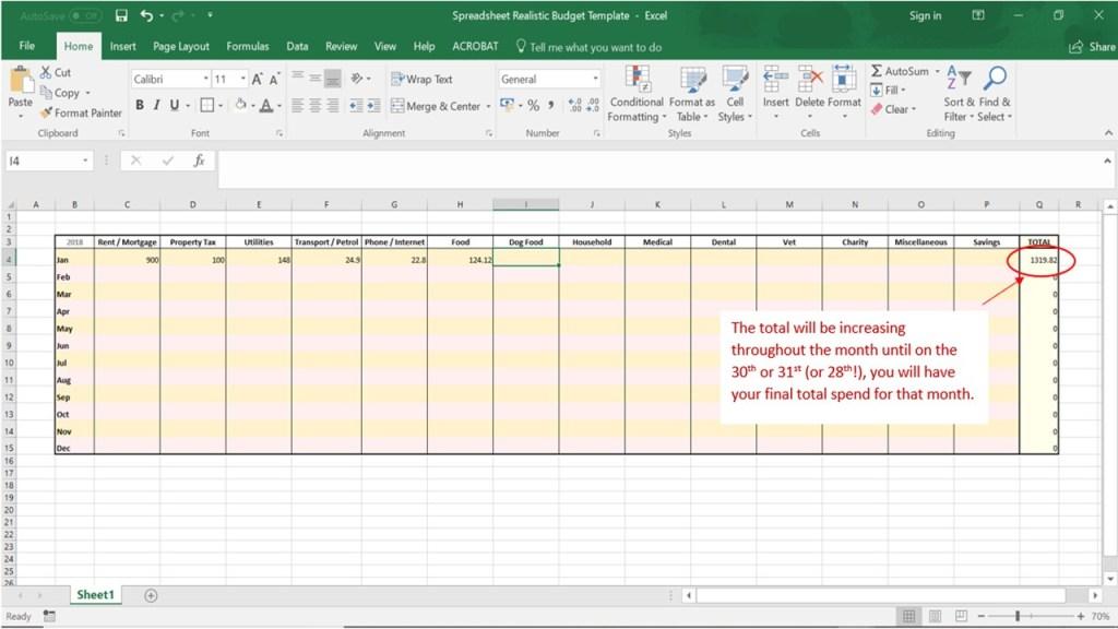 Financial Freedom Footsteps Budget Screenshot 4
