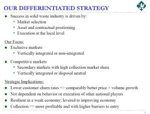 WCN Differentiated Strategy