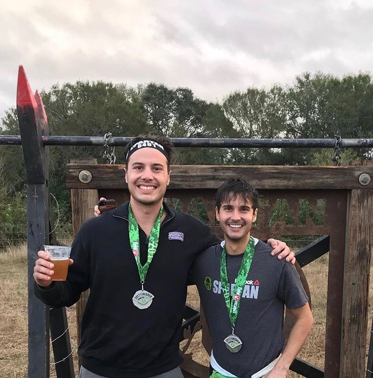 A friend and I after running my first Spartan race