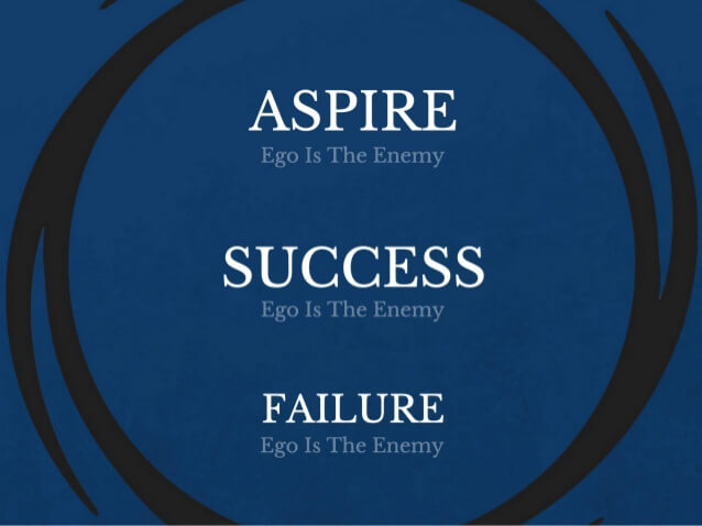 Financial Glass - Aspire, Success, Failure - Ego is the Enemy