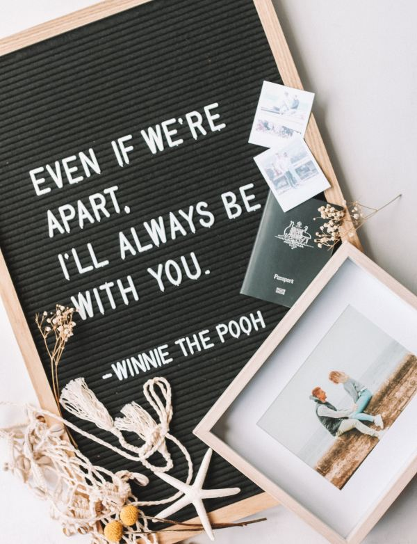 "Winnie the Pooh Quote - ""Even if we're apart. I'll always be with you."""