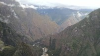 The view looking NW from the summit of Huayna Picchu, you can see the Rio Vilcanota.