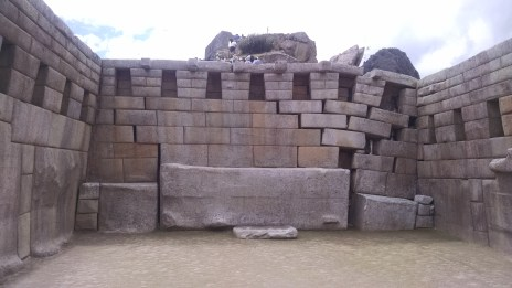 This is the east wall of the Principal Temple, one of the only collapsed walls in the entire site.