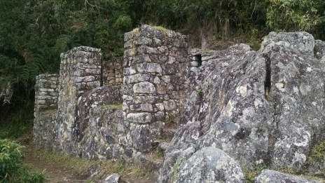 Ruins along the trail to the temple.