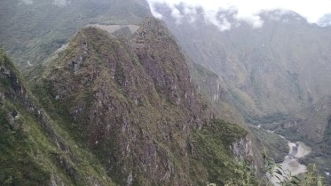 This was taken from the trail back to Machu Picchu from the Temple of the Moon. You can see Machu Picchu in the clearing, top left.