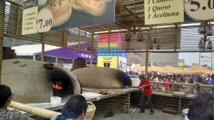 These clay ovens were built on the fairgrounds to bake bread.