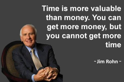 Time is more valuable than money. You can get more money, but you cannot get more time - Jim Rohn
