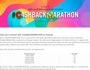 Kuetzal cashback marathon campaign