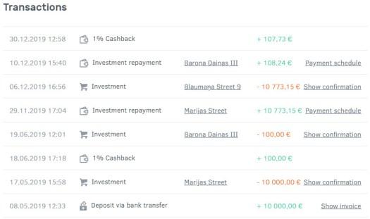 Bulkestate transactions