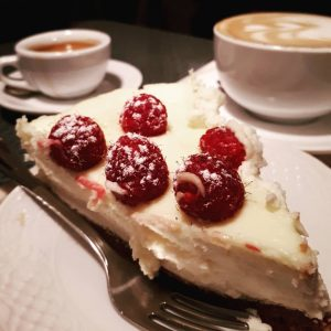 Coffee and cake treat in Belgium