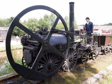 Flywheel on a train track