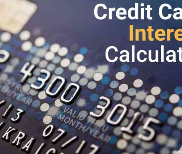 Credit Card Interest Calculator Image