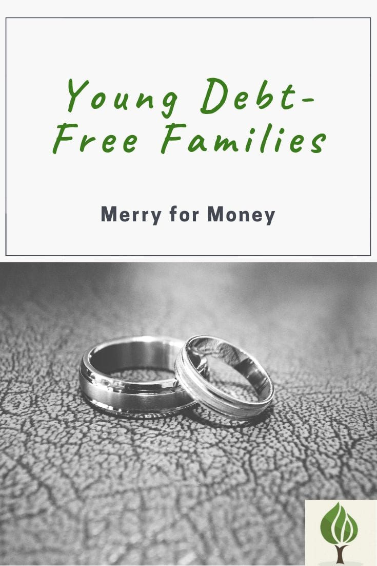 Young debt free families merry for money