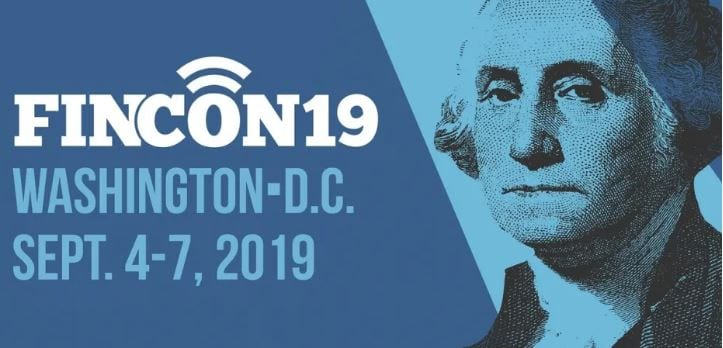 Photo of logo from FinCon 2019