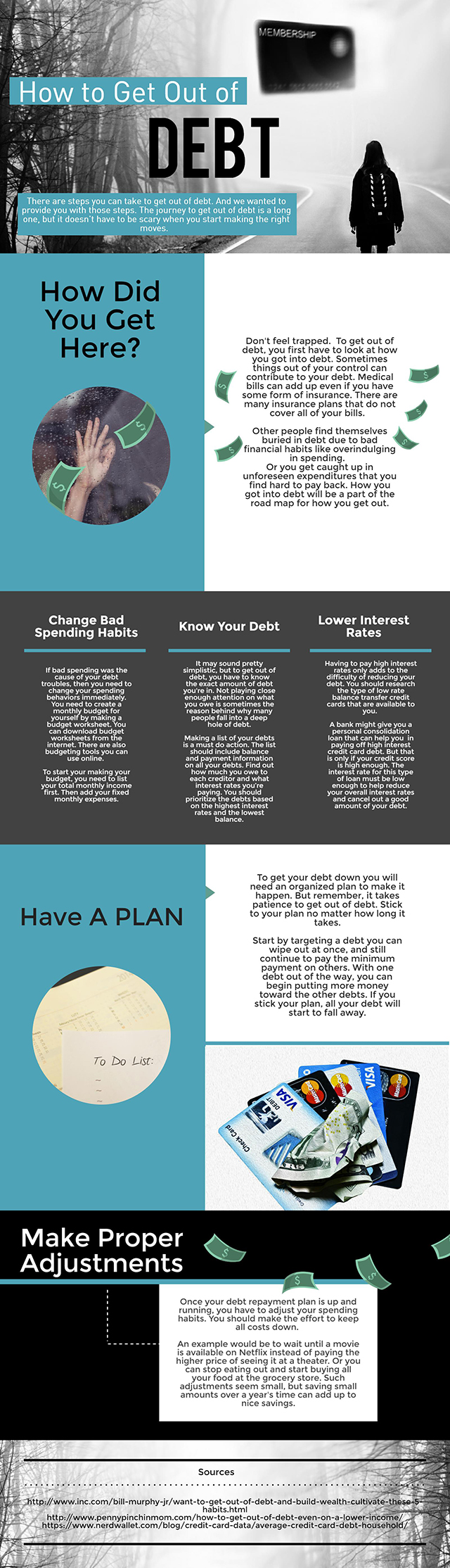 How to Get Out of Debt - Infographic