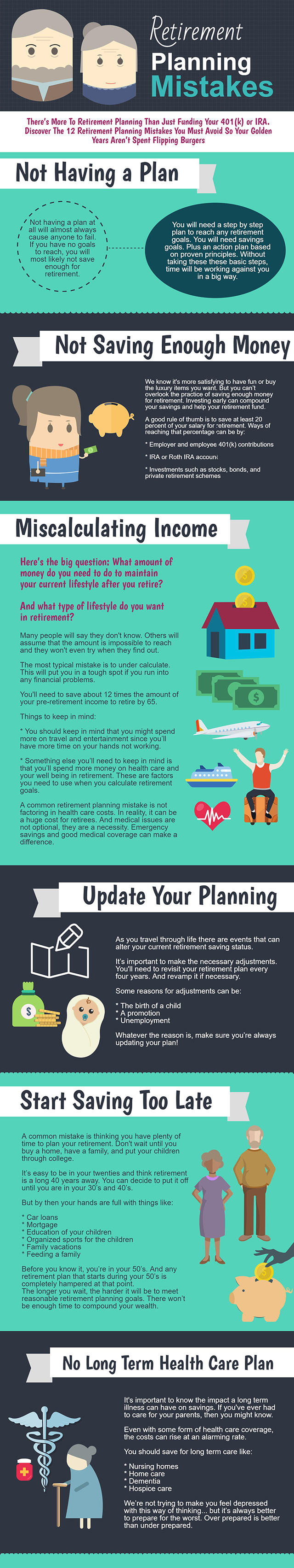 Retirement Planning Mistakes - Infographic