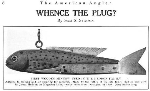 Antique Lure History Whence The Plug American Angler