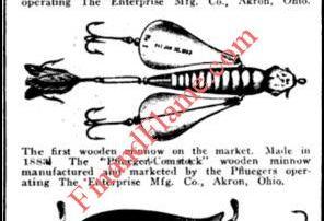 Pflueger Wooden Minnows Article 1918