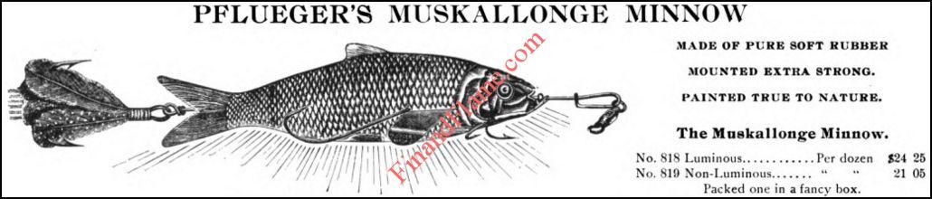 Pflueger Muskellunge Minnow Ad 1904