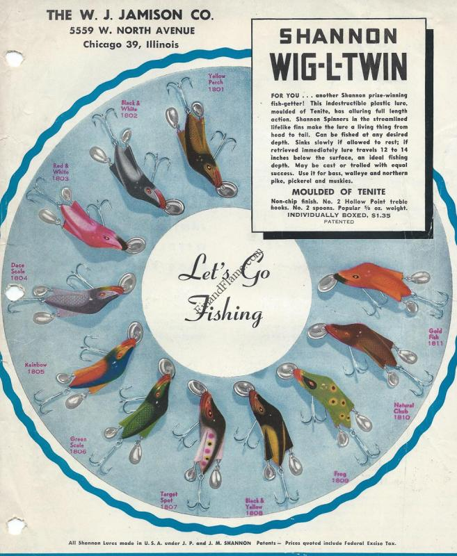 Jamison Wig L Twin Lure Color Chart Fin Flame Fishing For History