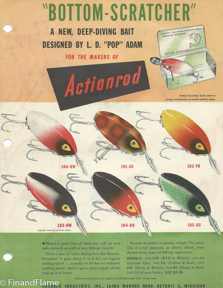 Bottom Scratcher Lure Color Chart